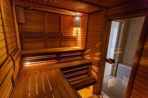 Wnętrze sauny